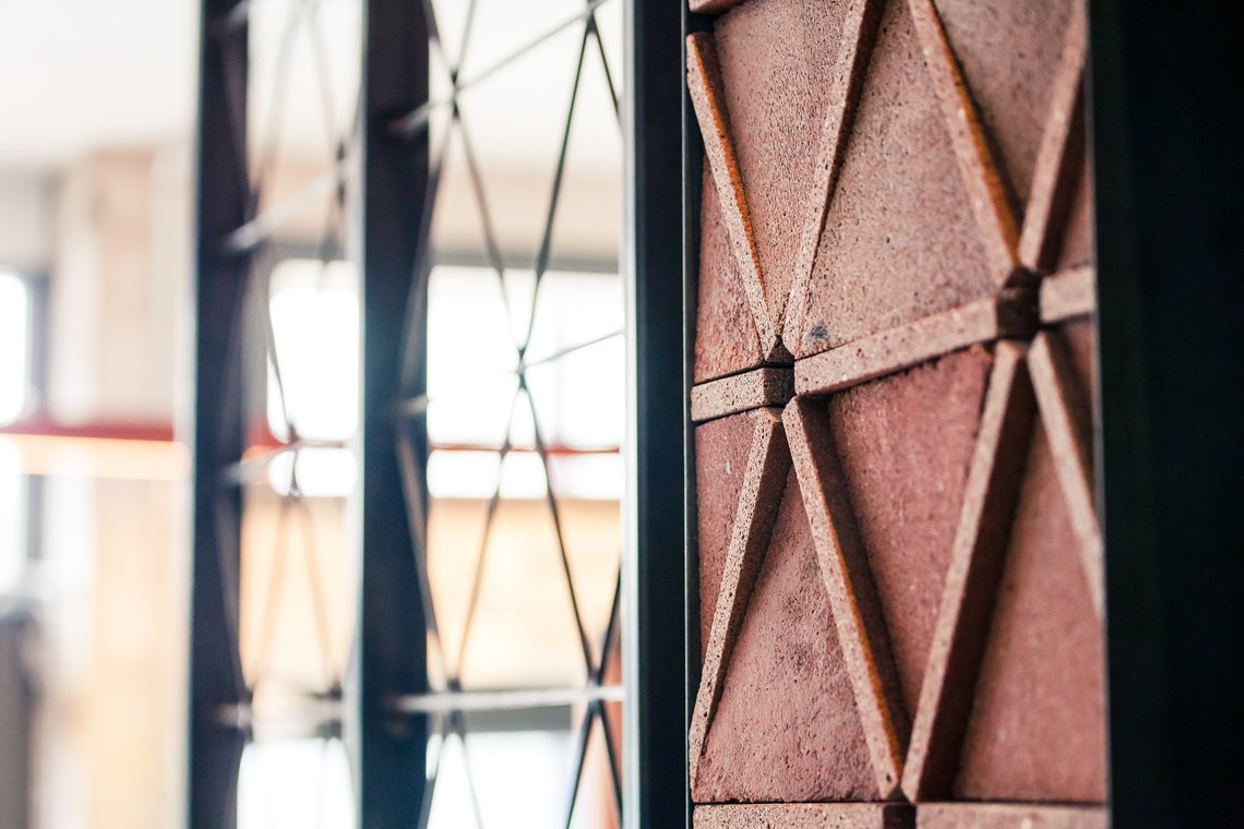Bespoke Silicastone tiles for Nando's headquarters in London